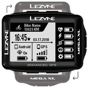 Lezyne Mega XL GPS Komputer, black